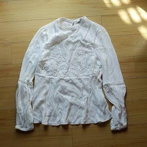 Guess boho chic lace crochet tunic